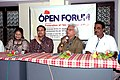 Director ADoor Gopalkrishnan with others at the Open Forum on November 30, 2007 at IFFI, Panaji, Goa.jpg