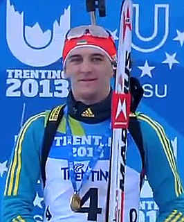 Dmytro Pidruchnyi Ukrainian biathlete