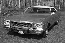 Una Dodge Polara Custom coupé del 1973