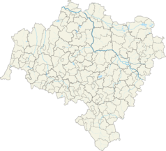 Mapa lokalizacyjna województwa dolnośląskiego
