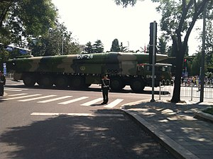 DF-26 - DF-26 missile as seen after the military parade on September 3, 2015.