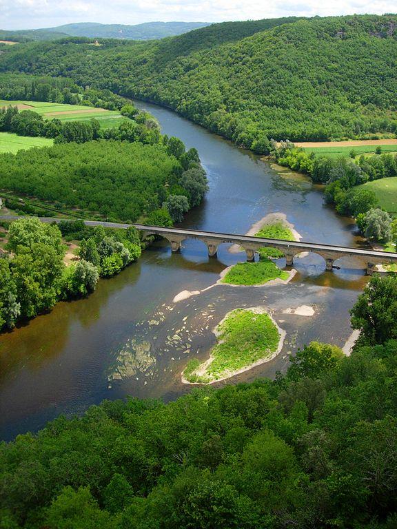 Rivier de Dordogne bij Castelnaud-la-Chapelle