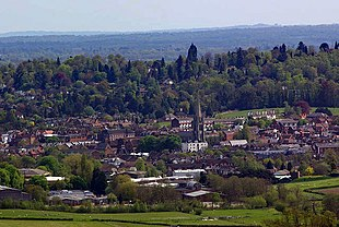 Dorking from Denbies Hillside
