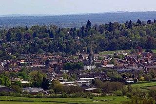 Dorking historic market town in Surrey, England