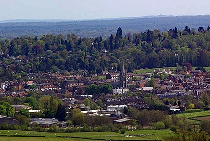 How to get to Dorking with public transport- About the place