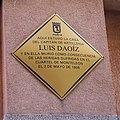 Dos de Mayo – Madrid, Luis Daoíz y Torres, placa commemorativa.jpg