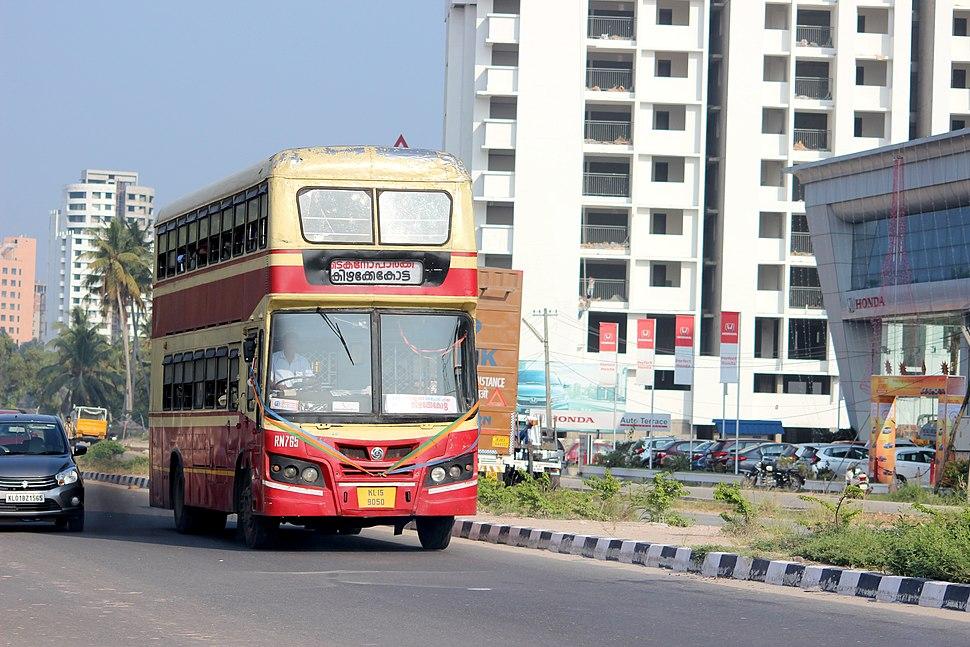 Double Decker bus in Trivandrum