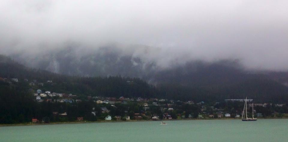 Douglas Island as seen from mainland Juneau, Alaska