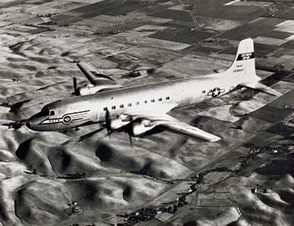 Military Air Transport Service - A U.S. Navy Douglas R6D-1 Liftmaster, BuNo 128425, operating for the Military Air Transport Service in the 1950s.