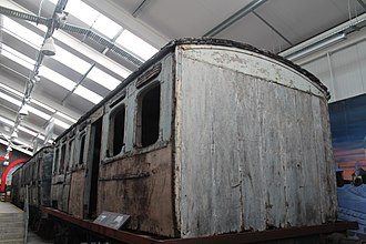 Ulster Railway - Surviving body of 1862 coach Nº33