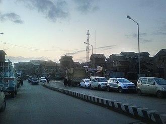 Downtown Srinagar - View of Downtown from Zaina Kadal Bridge