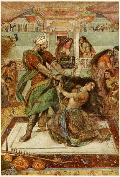File:Draupadi dragged from her chamber.jpg