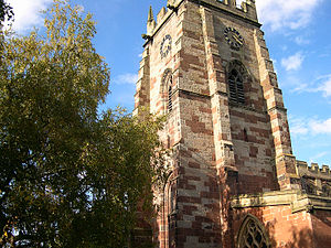 Robert Clive - St. Mary's in Market Drayton, whose tower Clive is reputed to have climbed