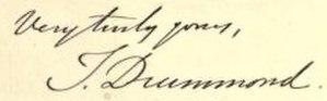 Thomas Drummond - Image: Drummond Thomas signature