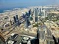Dubai - View from the Burj Khalifa - Crossing Sheikh Zayed Road - Finacial Centre Road - المنظر من برج خليفة - عبور شارع الشيخ زايد - Finacial شارع المركز - panoramio (1).jpg