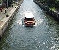 Duck boat in lock, Charles River Dam.jpg