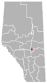 Duhamel, Alberta Location.png