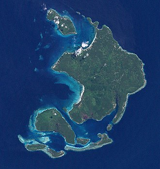 Duke of York Island, Papua New Guinea - Duke of York Islands seen from space