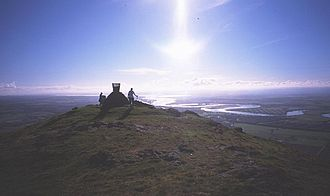 Maeatae - Dumyat summit, with the River Forth in the distance