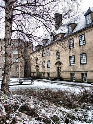 Hatfield College, Durham - Dunham Court in the snow