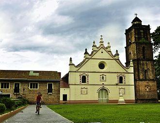 San Vicente Ferrer Church (Dupax del Sur) - Façade of the San Vicente Ferrer Church in Dupax del Sur, Nueva Vizcaya