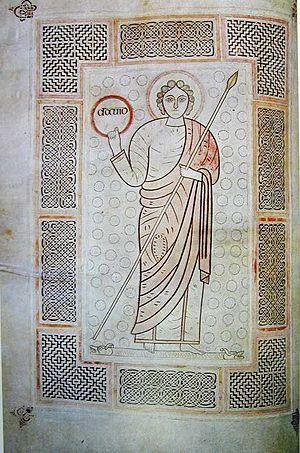 Durham Cassiodorus - Illustration of David as Victor from the Durham Cassiodorus.