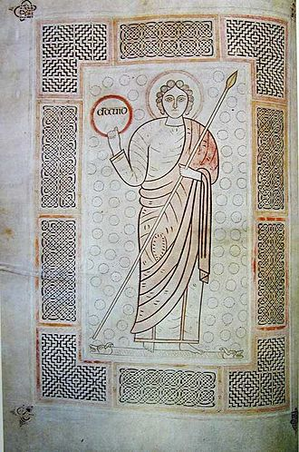Insular art - David from the Durham Cassiodorus, early 8th century, ?Jarrow