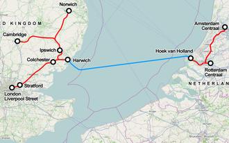 Dutchflyer - Image: Dutch flyer north sea map