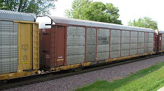 Glossary of North American railway terms - A consist of autorack cars