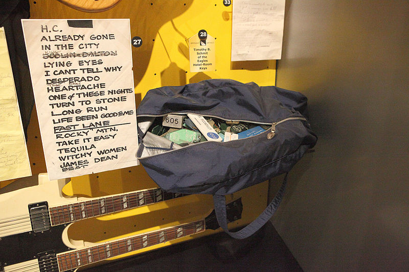 Eagles, Timothy B. Schmit%27s Bag of Hotel Keys - Rock and Roll Hall of Fame (2014-12-30 12.29.03 by Sam Howzit).jpg
