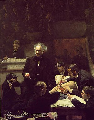 Eakins'in The Gross Clinic adlı yağlı boya eseri