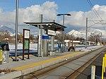 East at South Salt Lake City station passenger platform, Jan 16.jpg