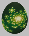 Easter egg painted with a Julia set, defined by the complex function, f(z)=z^2-0.4 + 0.6 1j.png