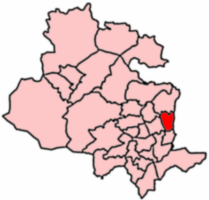 Idle and Thackley - 2004 Boundaries of Eccleshill Ward.