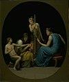 Eckersberg, CW - De tre parcer Clotho, Lachesis og Atropos spinder livets tråd - 1808.jpeg