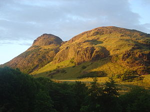 Schiehallion experiment - Arthur's Seat, the site of Henry James' 1856 experiment