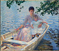 Edmund Tarbell, 1892 - Mother and Child in a Boat.jpg