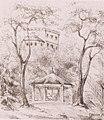 Eduard Mörike, Bopserbrunnen und Villa Weißenburg.jpg