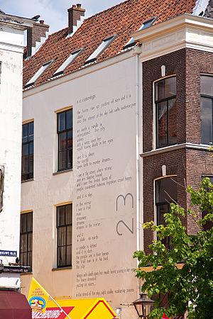 Wall poems in Leiden - Image: Eecummings Leiden Wall Poem