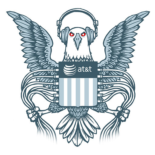 Evil 'Spying Eagle' NSA logo by EFF