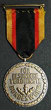 Ehrenmedaille der Bundeswehr Back