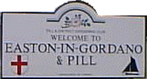 Easton in Gordano - Sign at parish boundary