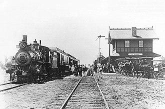 El Verano, California - Depot in El Verano, 1890