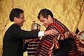 El presidente Correa condecora al Embajador de Bolivia (6894147279).jpg