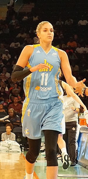 Elena Delle Donne - Delle Donne at Madison Square Garden, in the Chicago Sky's win over the New York Liberty.