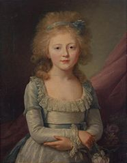Portrait of grand Duchess Yelena Pavlovna as the Child