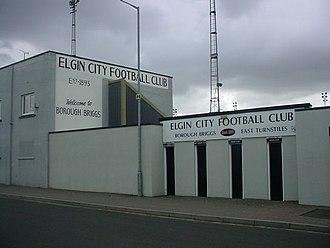 Borough Briggs - Image: Elgin City Football Club ground