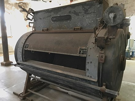 A Smith Drum laundry machine in the outbuilding Ellis Island Immigrant Hospital - Smith Drum.jpg