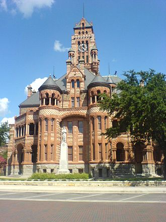 Waxahachie, Texas - The uniquely designed Ellis County Courthouse in Waxahachie