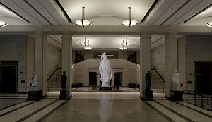Statue of Freedom - Statue of Freedoms plaster model in the Capitol Visitor Center.